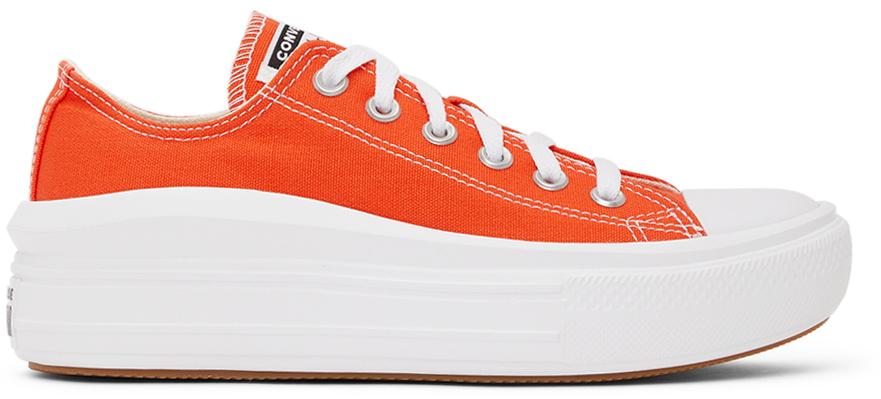 Photo: Converse Orange & White Chuck Taylor All Star Move Ox Sneakers