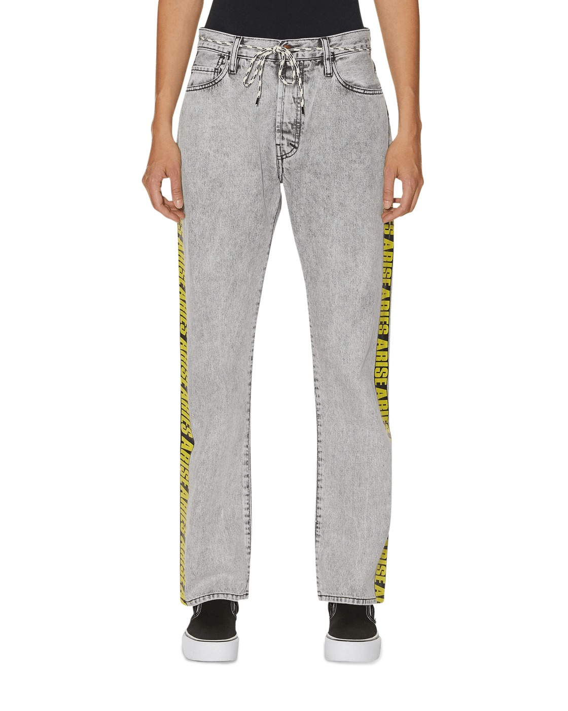 Aries Lilly Yellow Tape Jeans Grey Aceed