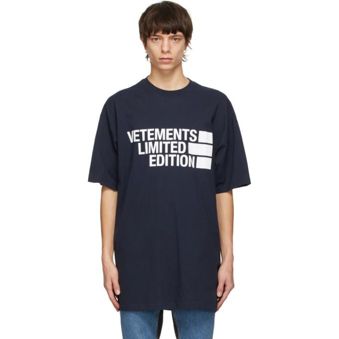 Photo: VETEMENTS Navy Limited Editon Logo T-Shirt