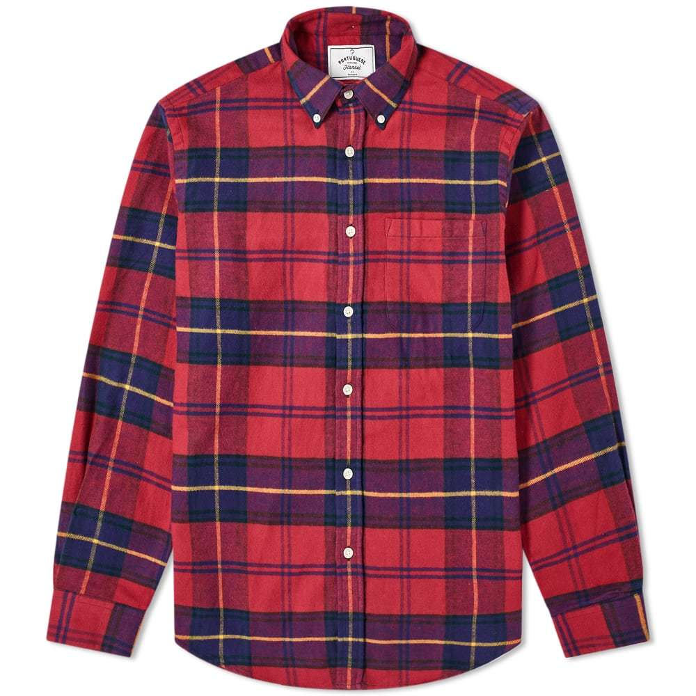 Photo: Portuguese Flannel Button Down Stage Check Shirt