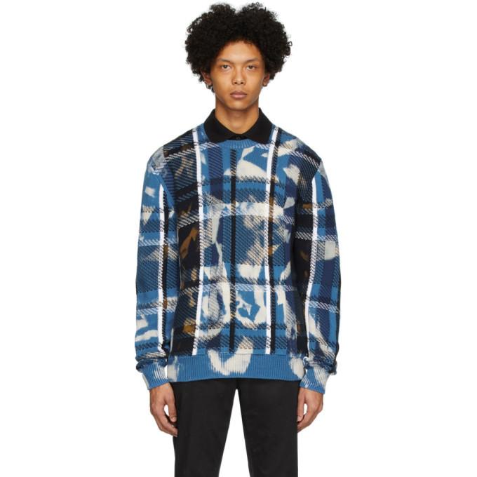 Photo: Versace Blue Acid Crewneck Sweater