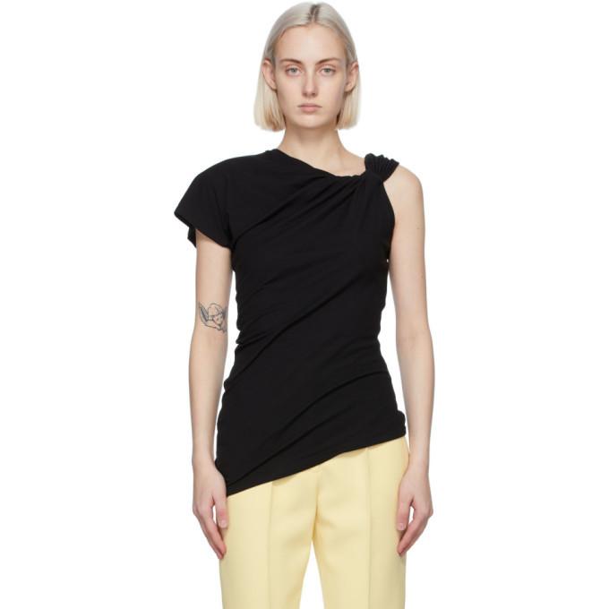 Photo: Alexander McQueen Black Knotted T-Shirt