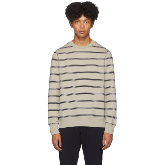 Photo: PS by Paul Smith Beige and Navy Stripe Sweatshirt