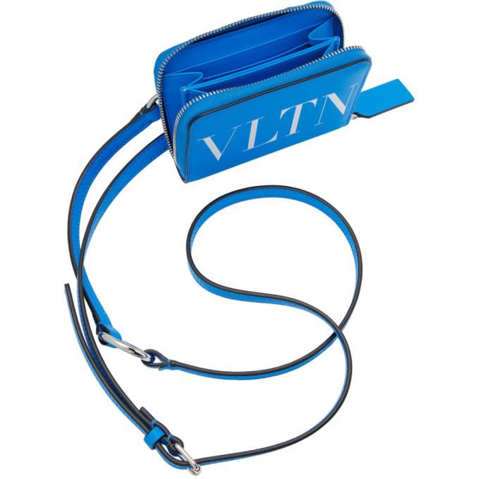 Valentino Blue Valentino Garavani VLTN Wallet Messenger Bag