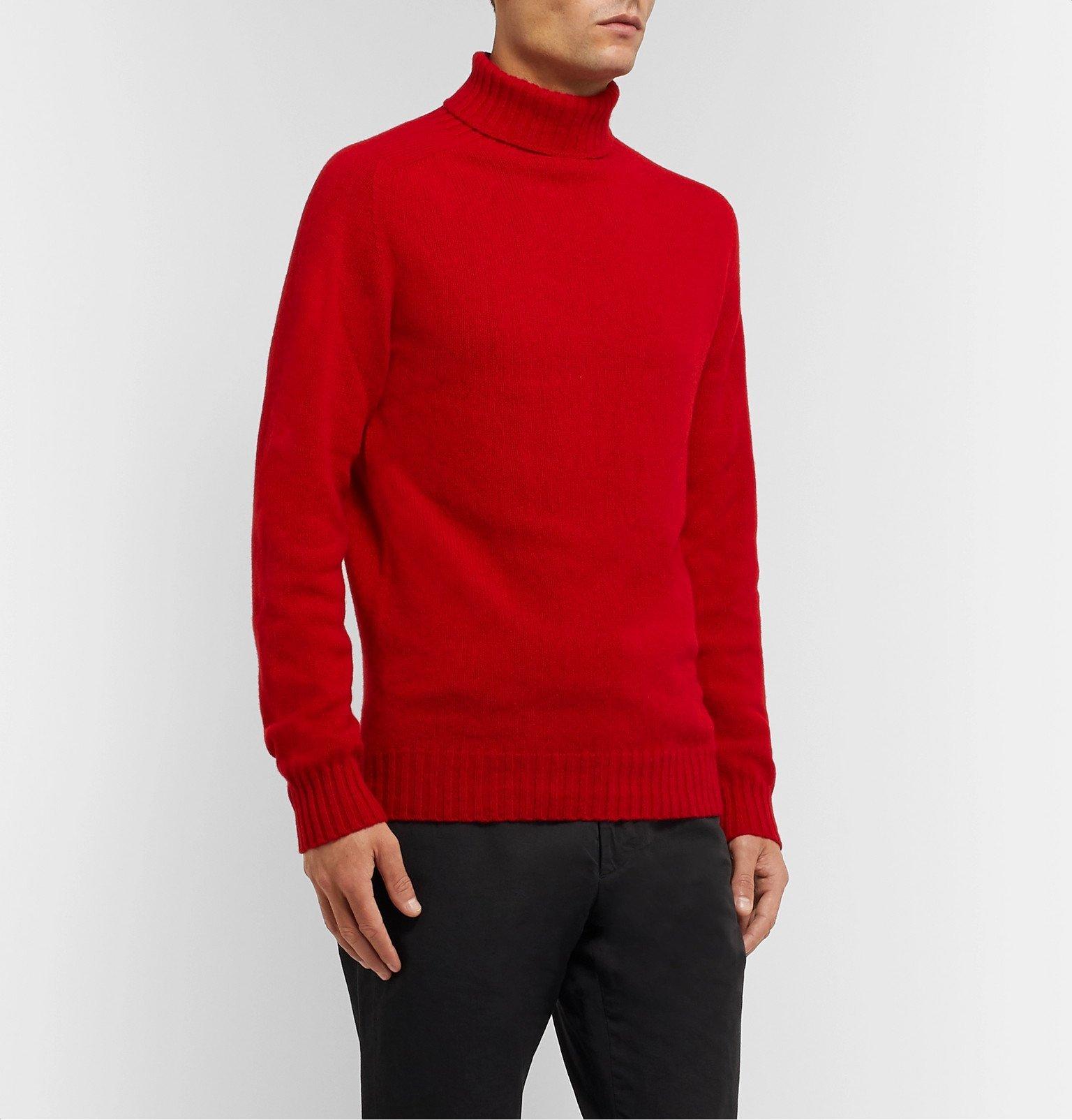 Officine Generale - Wool Rollneck Sweater - Red