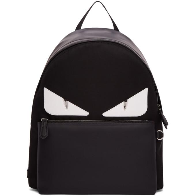 Photo: Fendi Black Bag Bugs Backpack