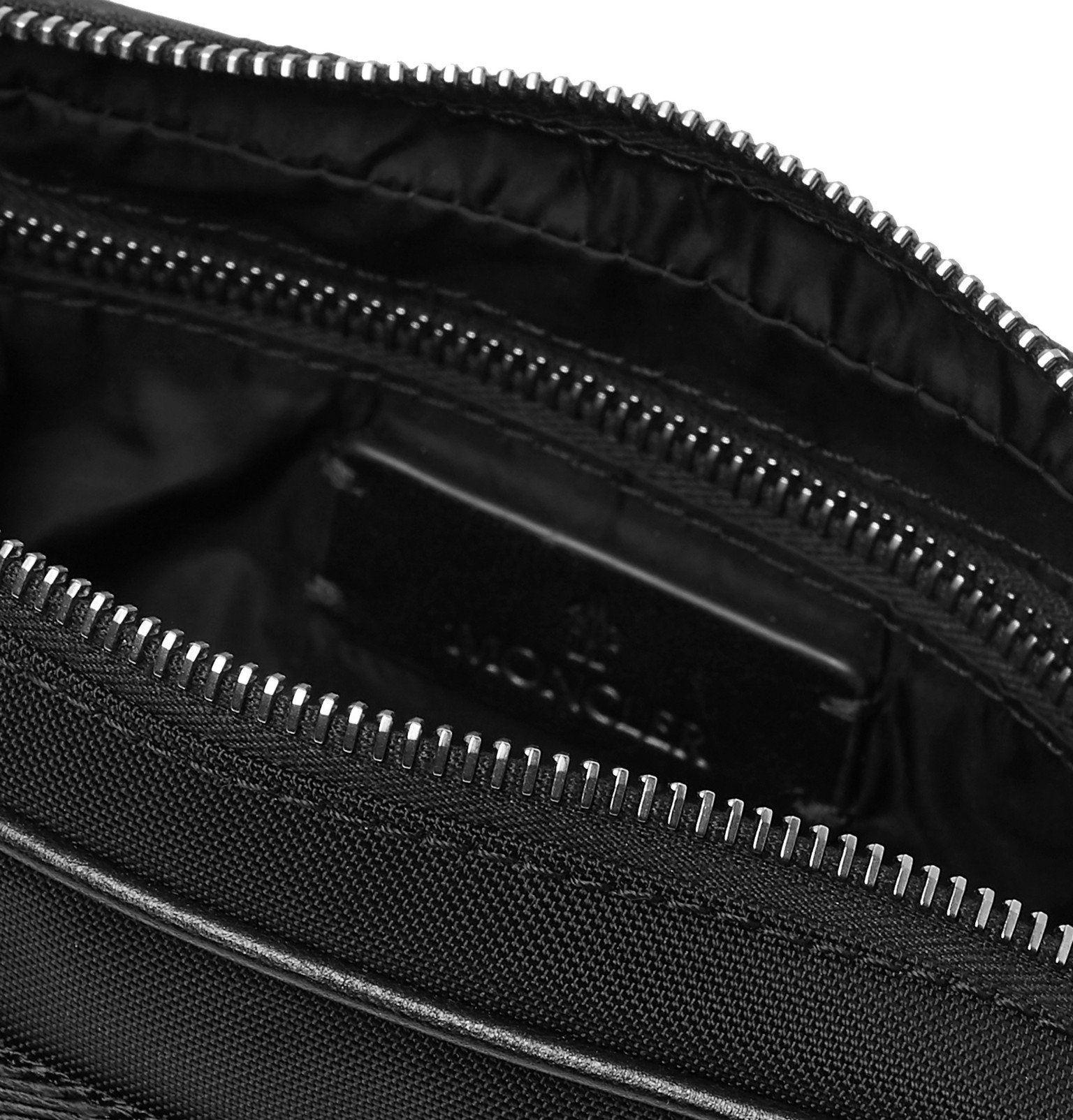 Moncler - Logo-Print Canvas Belt Bag - Black