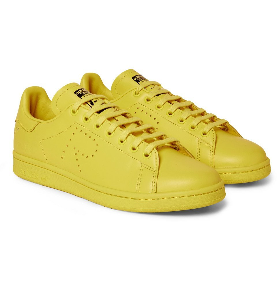 Photo: Raf Simons - adidas Originals Stan Smith Leather Sneakers - Men - Yellow