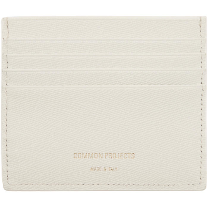 Common Projects White Large Card Holder