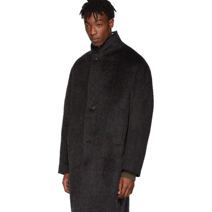 Lemaire Blue Chesterfield Coat