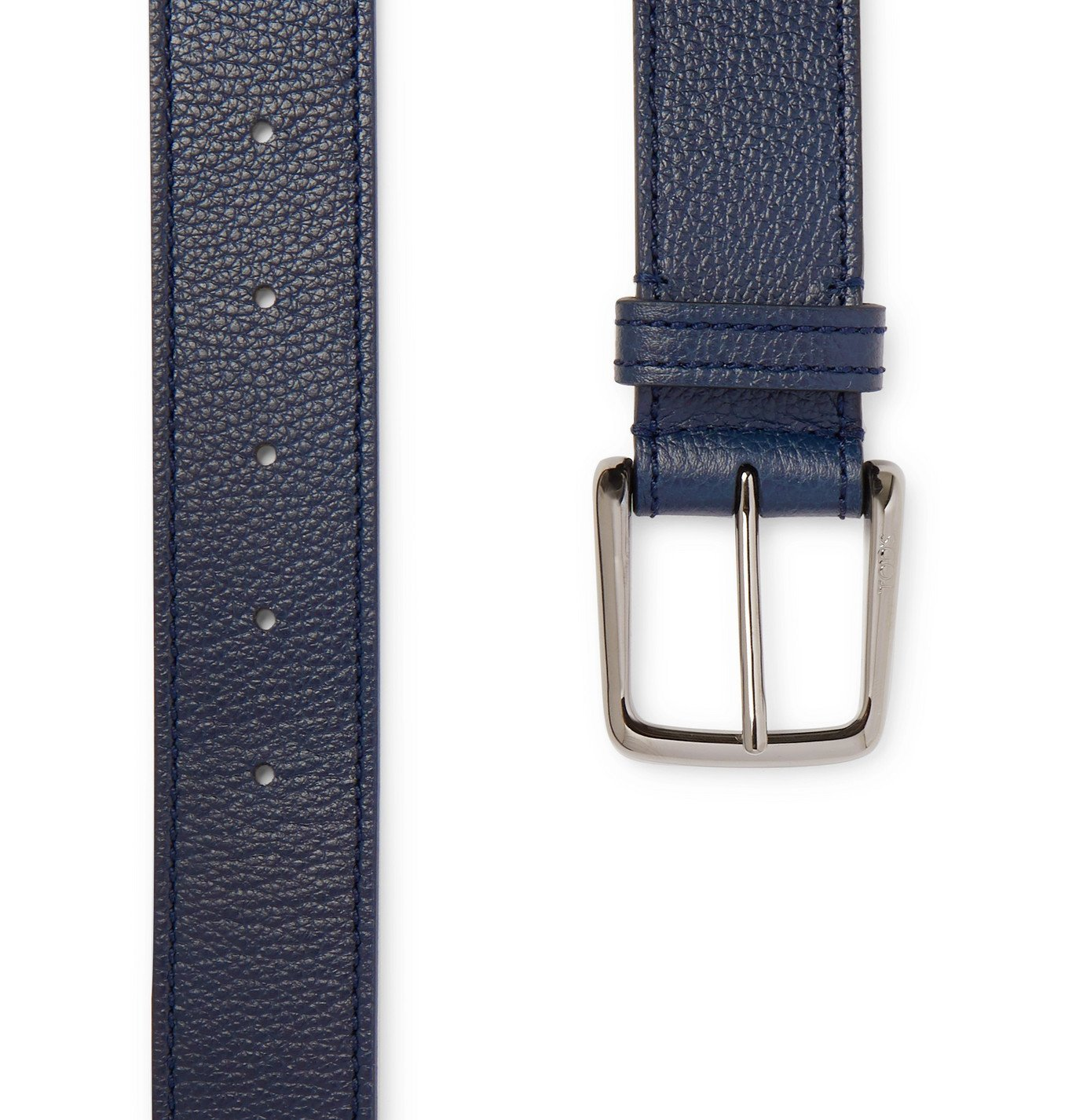 Tod's - 3.5cm Full-Grain Leather Belt - Blue