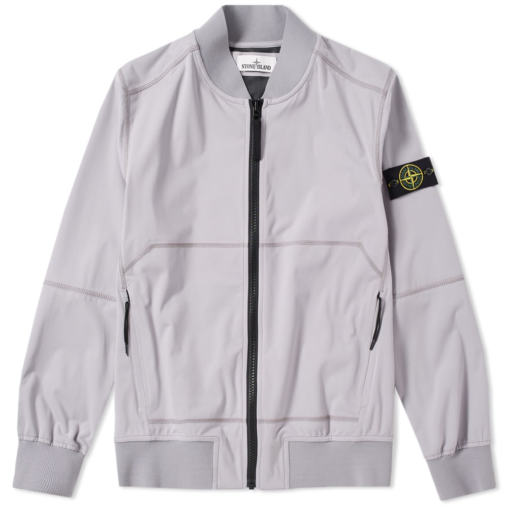 Photo: Stone Island Light Soft Shell SI Check Grid Bomber Jacket