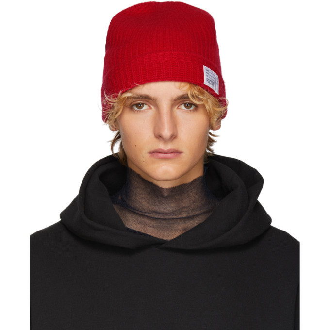 Photo: Visvim Red Wool Knit Beanie