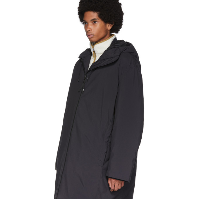 Y-3 Black Insulated Hooded Parka