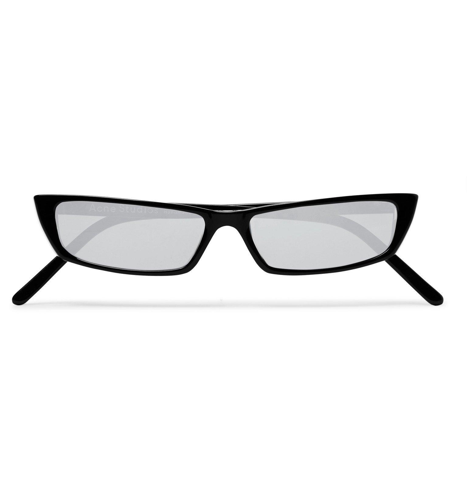 Photo: Acne Studios - Agar Rectangle-Frame Acetate Mirrored Sunglasses - Black