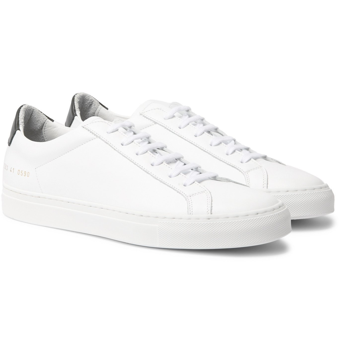 Common Projects - Retro Low Leather Sneakers - White