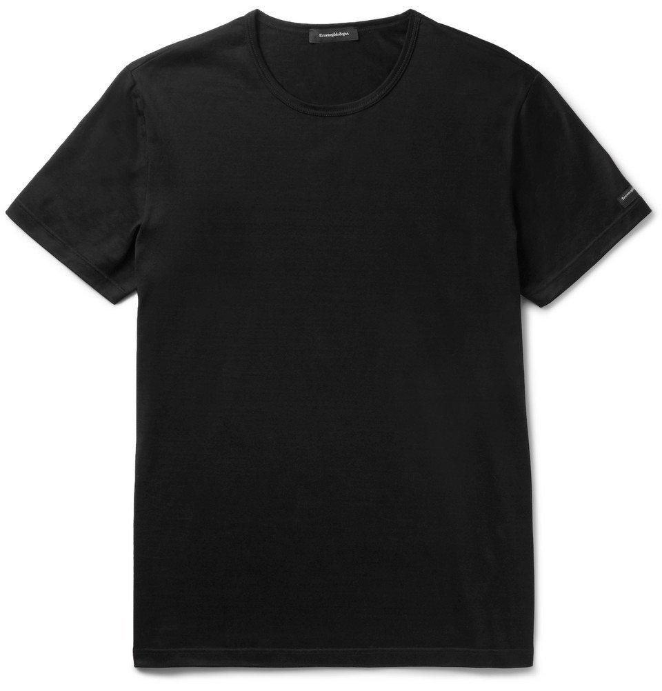 Photo: Ermenegildo Zegna - Cotton-Jersey T-Shirt - Black