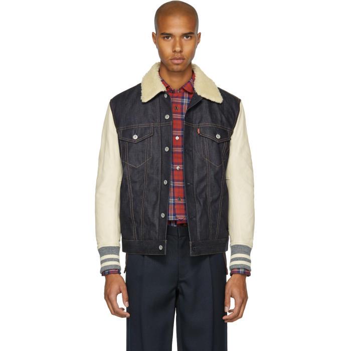 Indigo Jacket Denim Watanabe Edition Levis Sherpa Beige and Junya qx8wg7p57