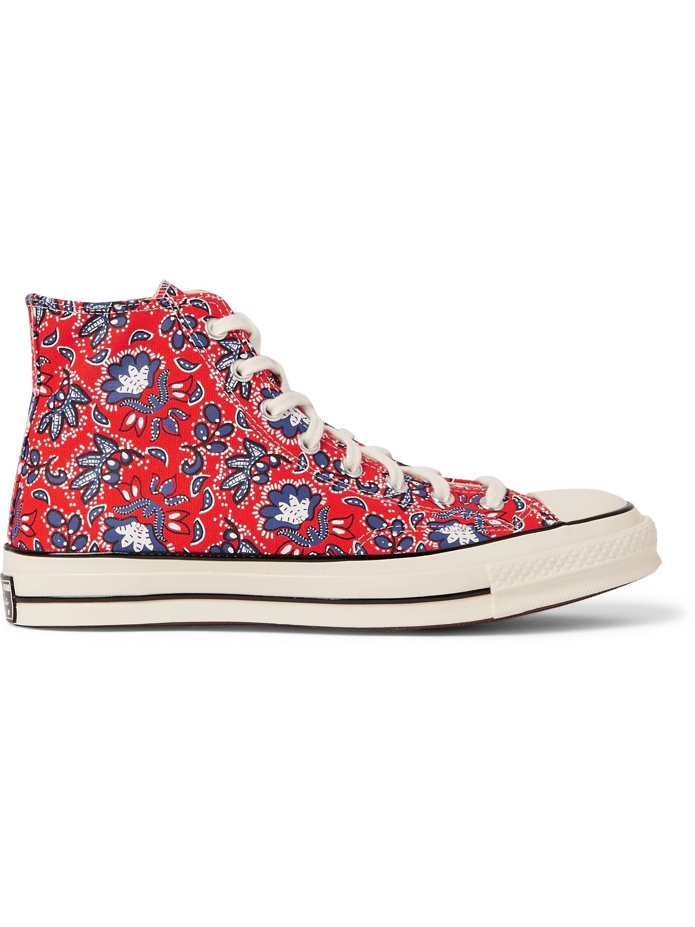 Photo: CONVERSE - Chuck 70 Paisley-Print Canvas High-Top Sneakers - Red