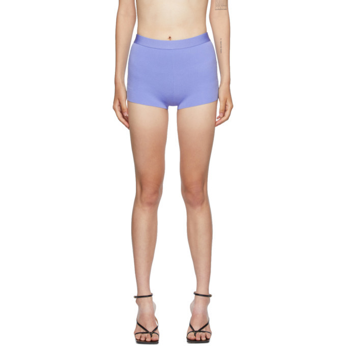 Photo: Helmut Lang Blue Knit Shorts