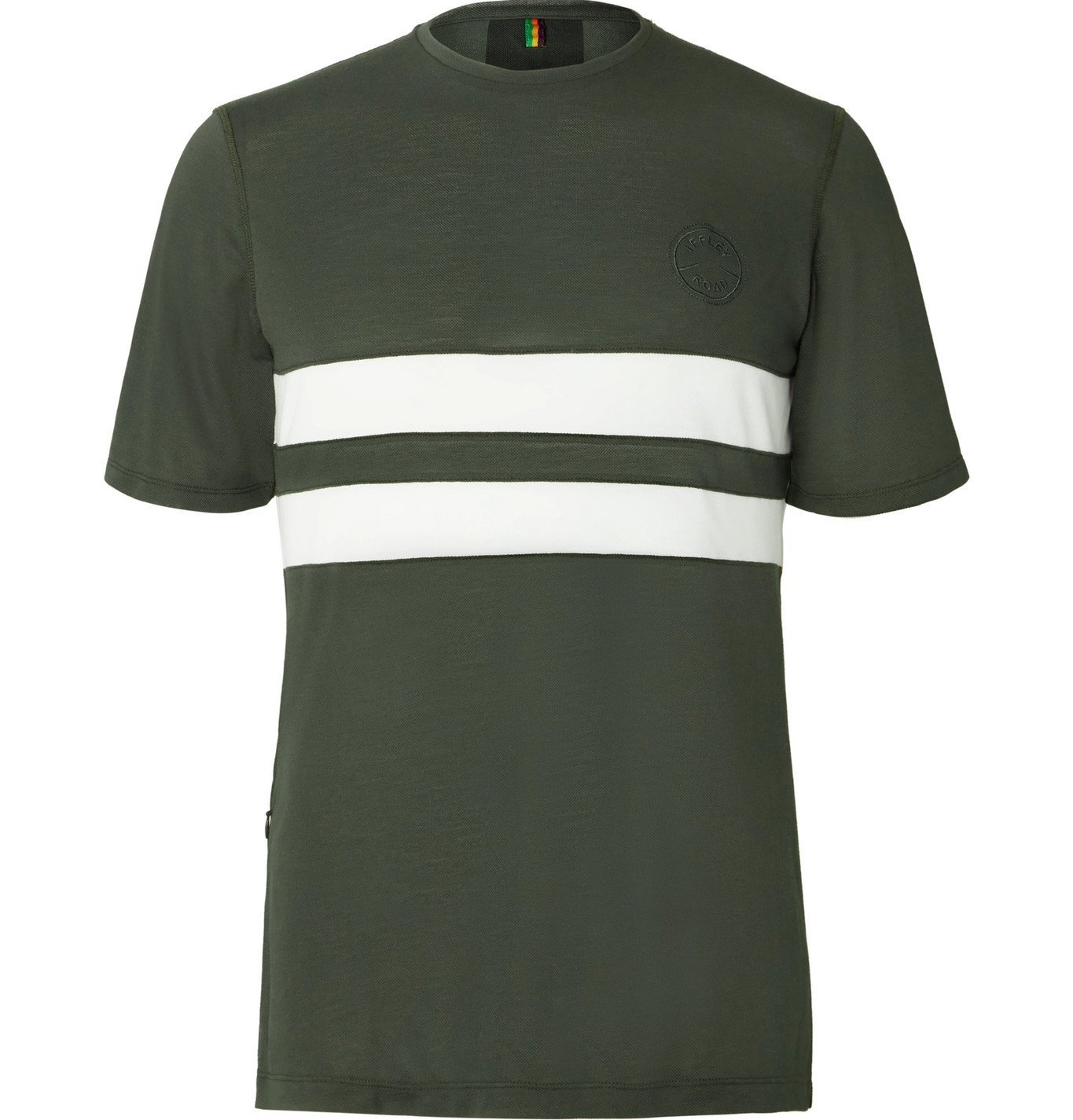 Photo: Iffley Road - Cambrian Striped Drirelease Piqué T-Shirt - Green