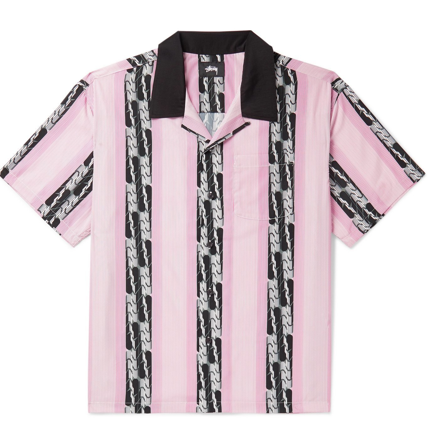 Photo: Stüssy - Camp-Collar Printed Voile Shirt - Pink
