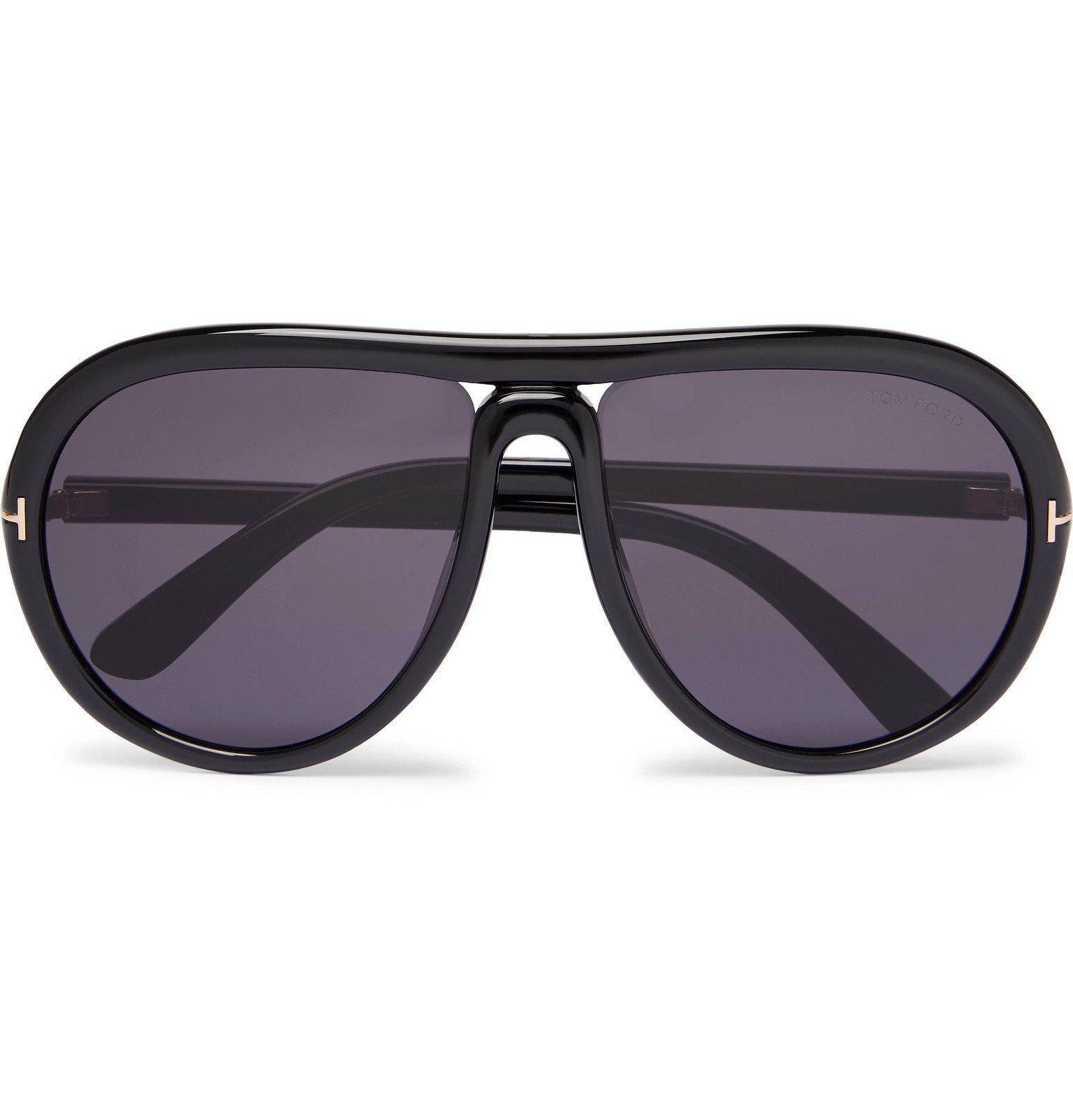 Photo: TOM FORD - Aviator-Style Acetate Sunglasses - Black
