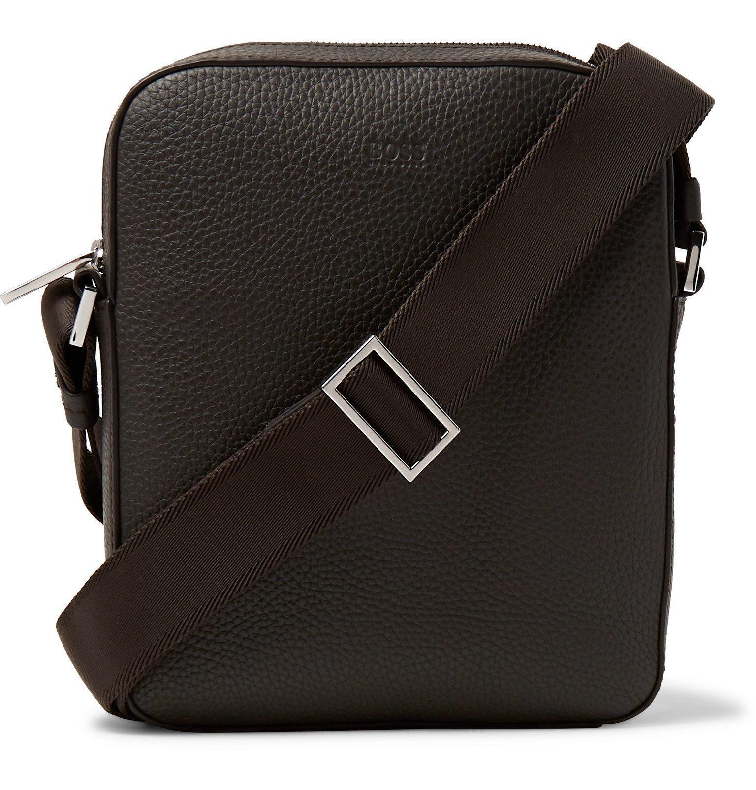 Photo: Hugo Boss - Crosstown Full-Grain Leather Messenger Bag - Brown