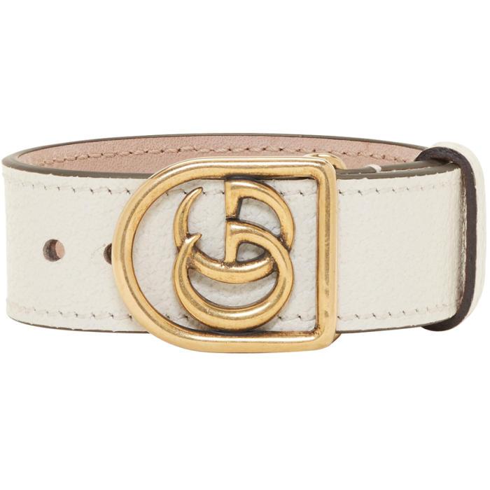 Photo: Gucci White GG Marmont Bracelet