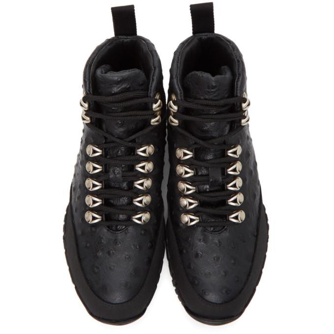 1017 ALYX 9SM Black Ostrich Hiking Boots