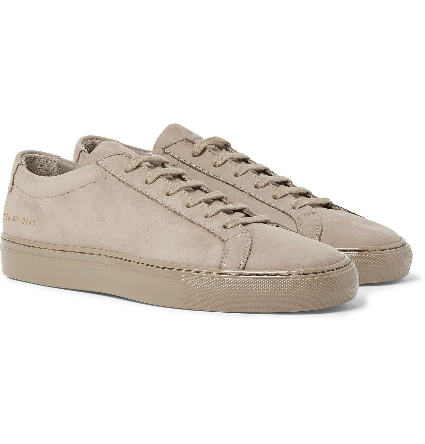Photo: Common Projects - Achilles Lux Nubuck Sneakers - Brown