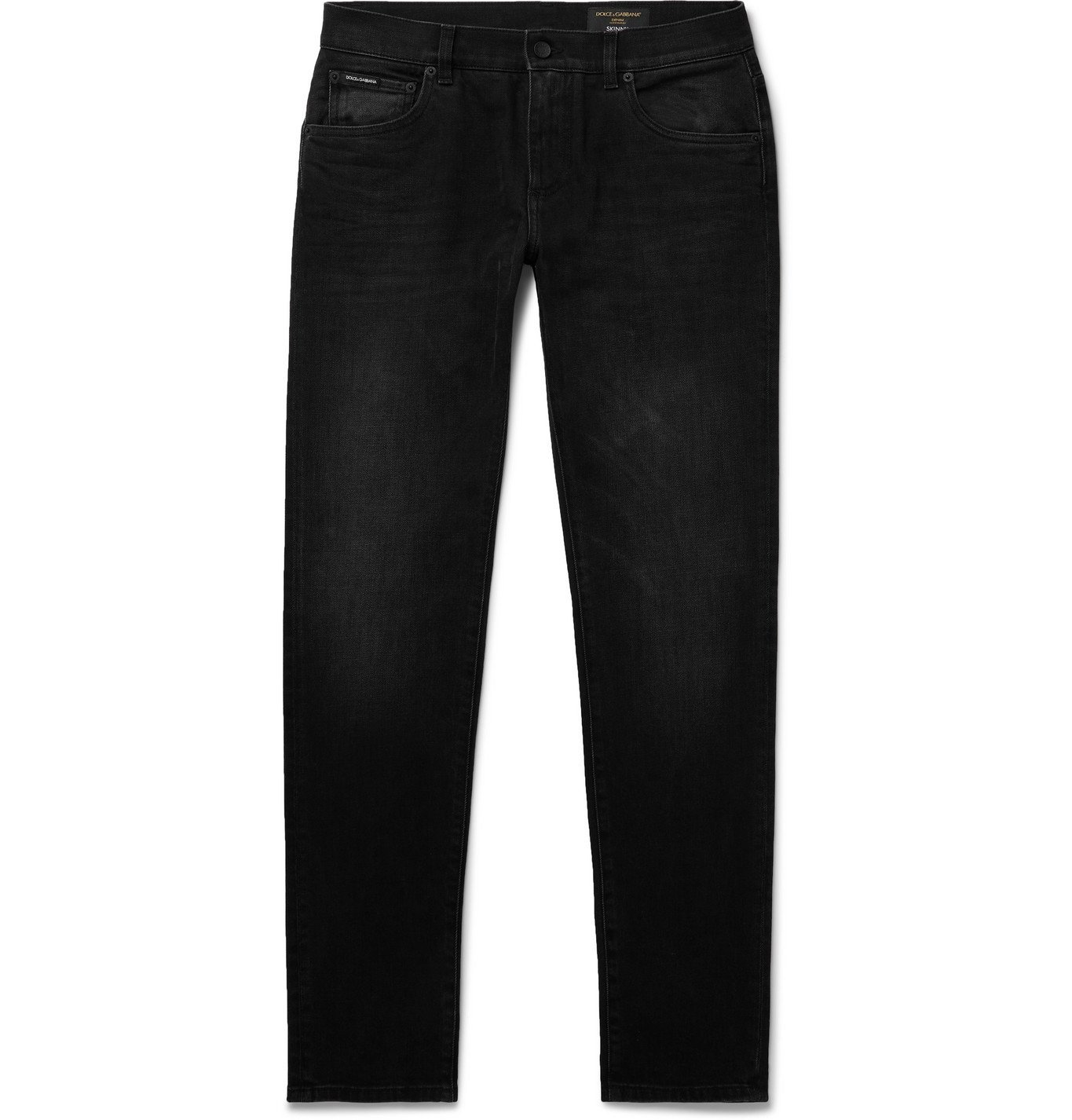 Photo: Dolce & Gabbana - Slim-Fit Stretch-Denim Jeans - Black