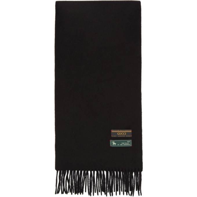 Photo: Gucci Black Wool and Cashmere Scarf
