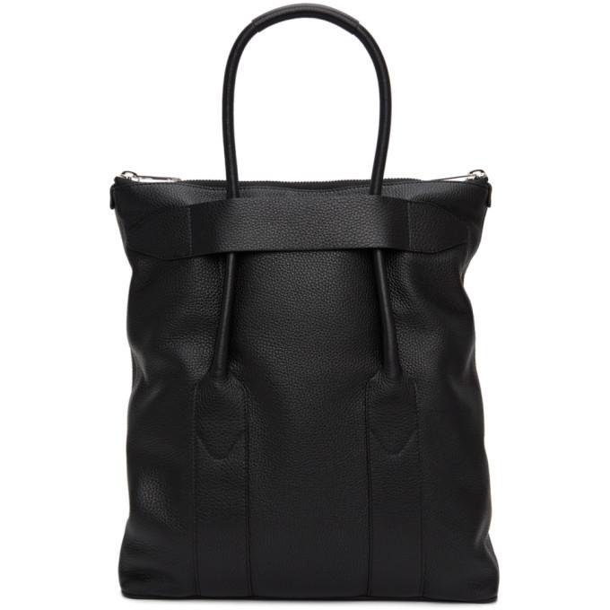 Photo: Maison Margiela Black Leather Medium Tote