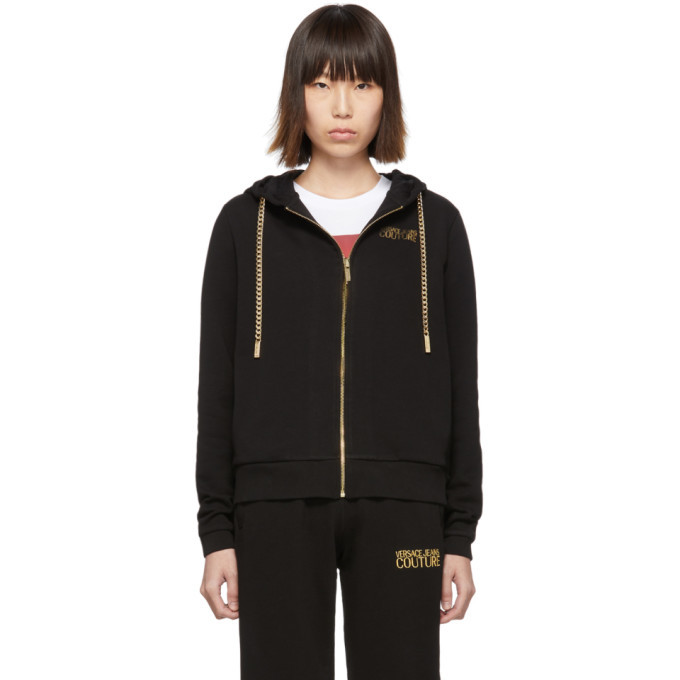 Photo: Versace Jeans Couture Black Curb Chain Hoodie