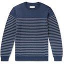 Albam - Striped Cotton Sweater - Blue