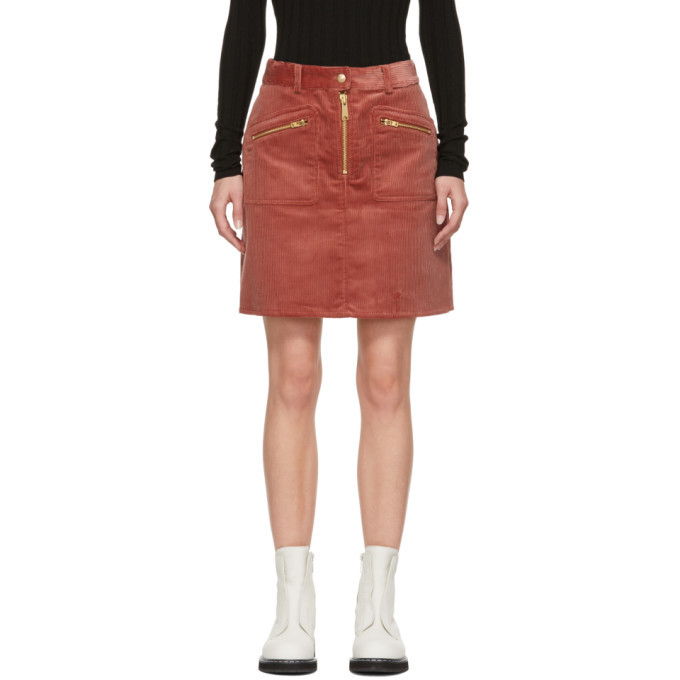 Photo: Won Hundred Red Corduroy Erica Miniskirt