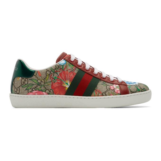 Photo: Gucci Multicolor GG Flora Ace Sneakers