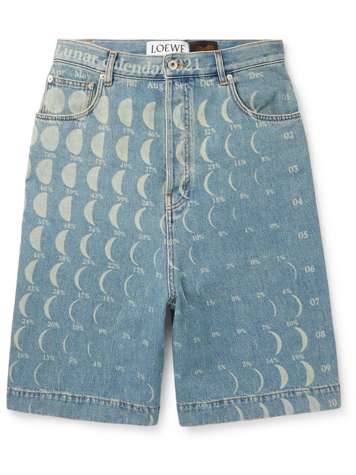 Photo: LOEWE - Paula's Ibiza Printed Denim Shorts - Blue