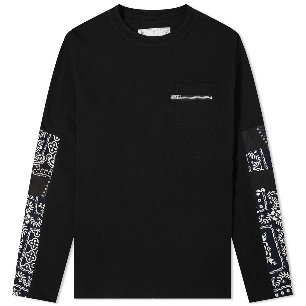 Photo: Sacai Long Sleeve Archive Print Mix Tee
