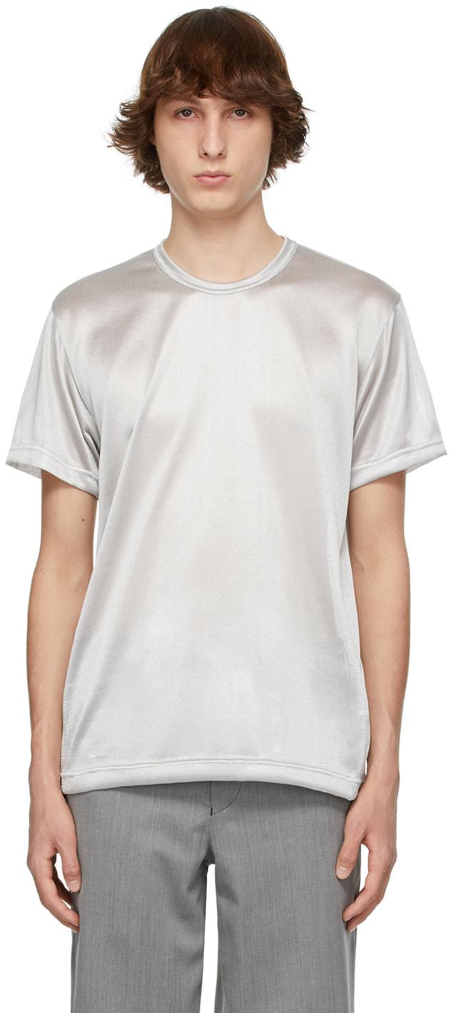 Photo: Comme des Garçons Homme Plus Silver Gloss T-Shirt