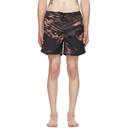 Ksubi Black and Orange Life Swim Shorts