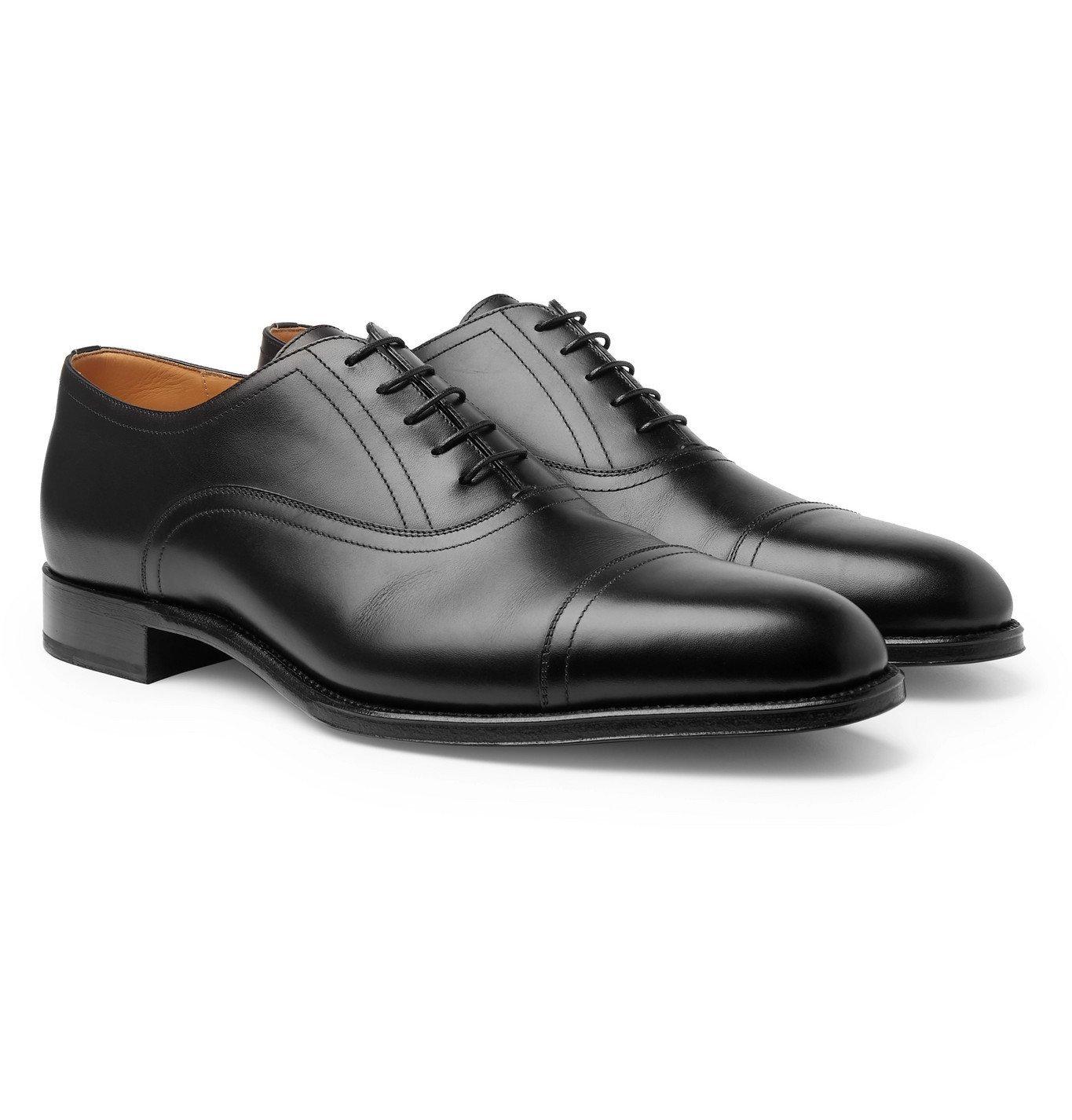 Dunhill - Kensington Leather Oxford Shoes - Black