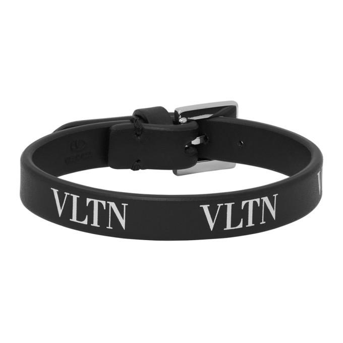 Photo: Valentino Black Valentino Garavani VLTN Bracelet