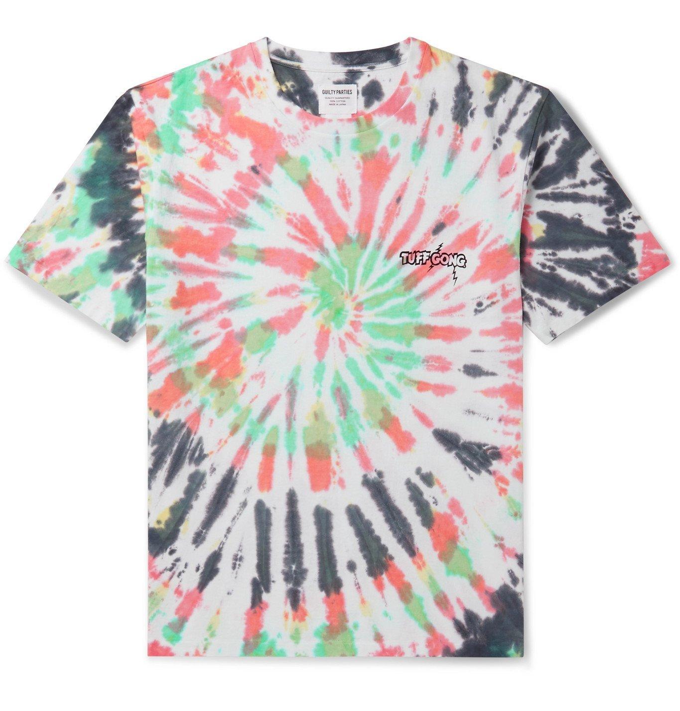Photo: Wacko Maria - Tuff Gong Logo-Print Tie-Dyed Cotton-Jersey T-Shirt - Green
