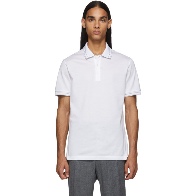 Photo: Salvatore Ferragamo White Logo Polo