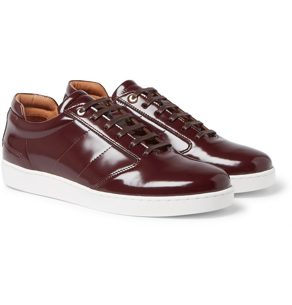 Lennon Patent-Leather Sneakers