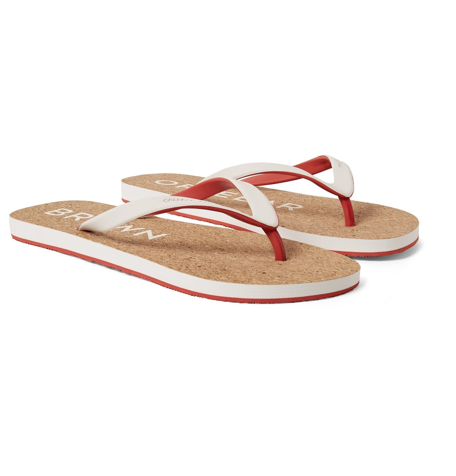 Photo: Orlebar Brown - Haston Rubber and Cork Flip Flops - White