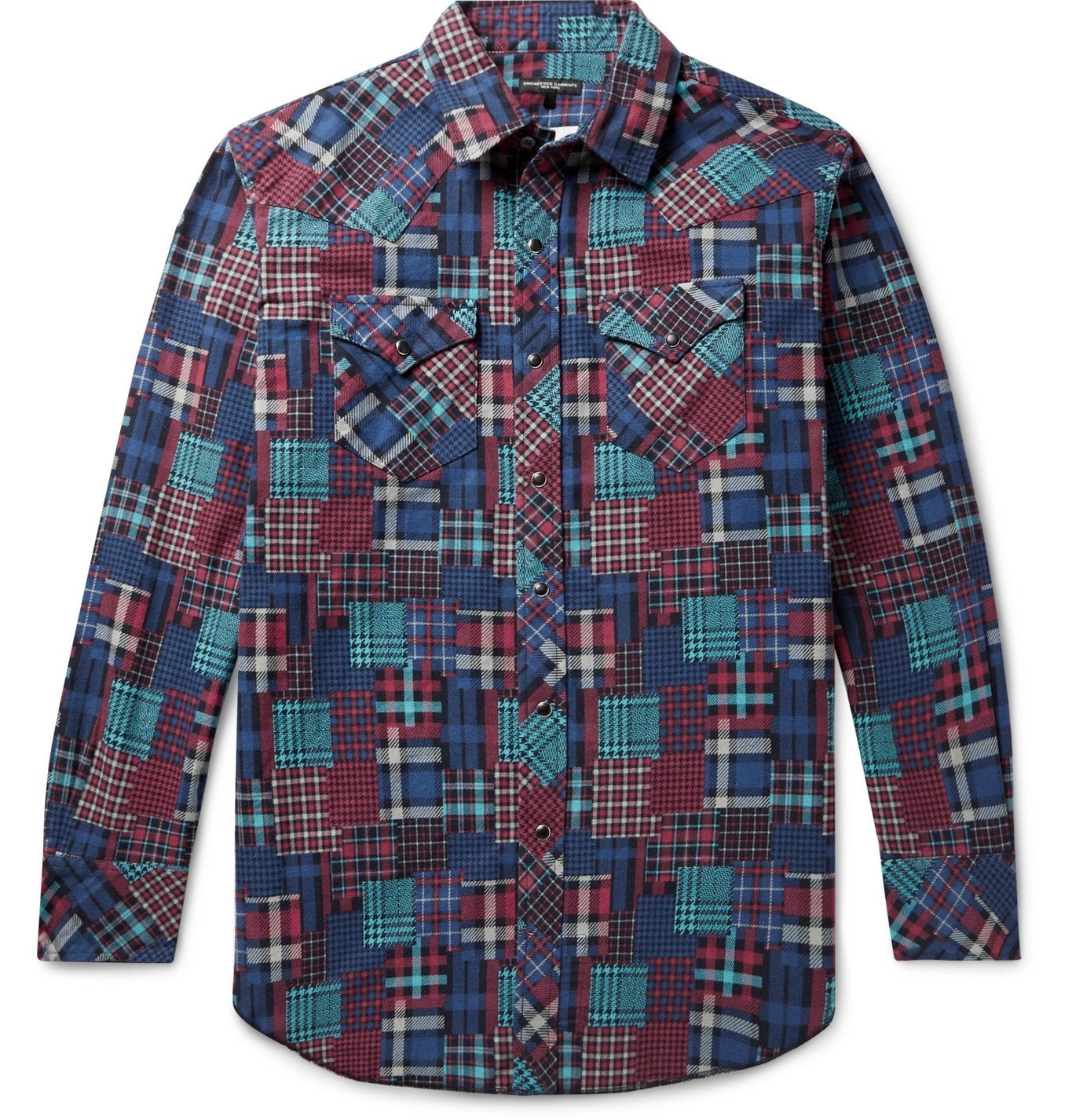 Photo: Engineered Garments - Printed Cotton-Flannel Western Shirt - Red