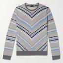 GIORGIO ARMANI - Intarsia Wool Sweater - Multi - IT 46
